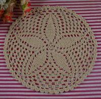 handgefertigte häkeltücher groihandel-handgemachte gehäkelte Deckchen Vintage weiße Blume, Spitze häkeln Deckchen Tasse Matte Vase Mat Coaster 23cm / 9