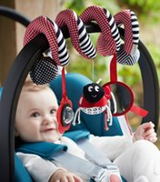 Wholesale Baby Toy Mirrors - multifunctional baby car Bed Hanging rattle Toy bed Stroller around Toy teether and safety mirror