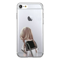 Wholesale Iphone Students - Shaka Laka student Phone Clear shell fashion beauty Case For iPhone 6 6S 5.0in 6plus  7 7plus 8 8s plus Soft TPU silicone back Cover