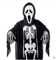 Wholesale Classic Costume Jewelry Wholesale - Skeleton Clothes Halloween Jewelry Kids Halloween Halloween Props Boys Morphsuit Kids Girlsi Fancy Dress Costume Childs Great For Birthday