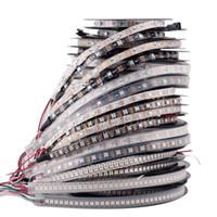 ruban de pcb achat en gros de-DC5V adressable individuellement ws2812b led bande lumière blanche / noire PCB 30/60/144 pixels, smart RGB 2812 ruban ruban led étanche IP67 / IP20