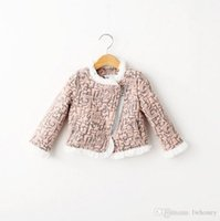 Wholesale Lined Spring Coats For Girls - .Children Jacket Girls Winter Coats Clothes Cardigan Prubcess for Kids Clothing 2015 Autumn Cotton Lace Floral Outerwear ZZ-433