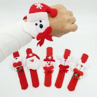 Discount slap rings - Christmas Cute Slap Bracelet Bangle Xmas Party Decor Pat Circle Hand Ring Xmas Decorations Gifts Circle Handwear 60Pcs Lot Free Shipping