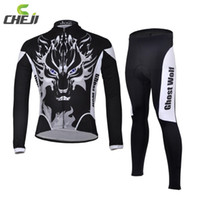 Wholesale Ghost Race - Wholesale-2015 Ghost Wolf Men Cycling Jerseys Breathable Quick Dry Road Mountain Bike Racing Clothing Professional Cycling Jersey Pants