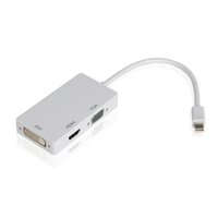 displayport dvi cable adaptador al por mayor-3 en 1 rayo mini DP Displayport al adaptador del monitor HDMI VGA DVI para Macbook de superficie