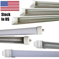 Wholesale Led Light Price Cheap - t8 1200mm 4 led tube integration led tube bulb v shaped double line no need holder led manufacturer cheap price list light