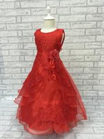 Wholesale Tutu Dresses For Low Prices - Wholesale Pageant Ball Gowns For Girls Dress 2015 New Turquoise Flower Girl Dress Plus Size Kids Evening Dress Low Price