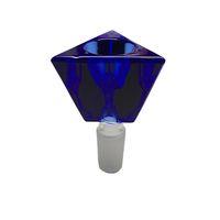 bolos gratis al por mayor-Heady color Triángulo Vasos de vidrio Tazón para fumar Tubos de agua de vidrio tazón masculino 14 18mm envío gratis