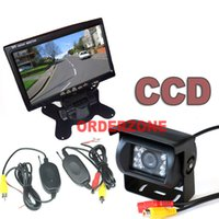 "Wholesale Ccd Backup Camera System - WIRELESS CAR REAR VIEW KIT 7"" LCD AUTO MONITOR+18LED IR NIGHT VISION WATERPROOF HD CCD REVERSING BACKUP PARKING CAMERA SYSTEM"