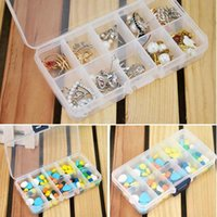 Wholesale Craft Storage Containers Compartments - 2016 Hot Sale New Plastic 10 Slots Compartment Jewelry Necklace Clear Storage Box Case Holder Craft Organizer Container