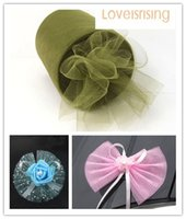 Wholesale banquet fabric rolls for sale - Group buy New Arrivals Rolls quot x100y Sage Green Color Tulle Rolls Spool Tutu DIY Craft Wedding Banquet Fabric Wedding Car Decor