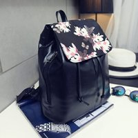 Wholesale Good Day Pack - fashion school women backpack good quality flower backpack school bag for teenagers girl soft pu leather female back pack