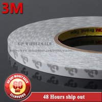Wholesale Double Sided Adhesive Strips - Wholesale-1x 10mm*50 meters 3M 9080 2 Sides Adhesive Tape High Temperature Resist for LED Strip, Auto Anti-bump Strip Adhesive