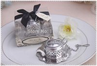 Wholesale Tea Infuser Favours - Wedding Favors And Gifts-Tea for Two Teapot Tea Infuser Favours 50pcs lot Free shipping by DHL Fedex #86131