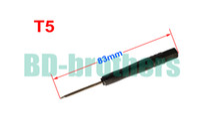 Wholesale Hard Disk Tools - 83mm Black T5 Screwdriver Torx Screw Drivers Open Tool for Hard Disk Circuit Board Phone Opening Repair 6000pcs lot