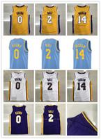 Wholesale Mens Shorts Quick Dry - Mens 2017-18 New season jerseys 0 Kyle Kuzma 2 Lonzo Ball 14 Brandon Ingram 100% Stitched jersey free shipping