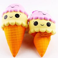 Wholesale Play Food Ice Cream - squishies toy Kawaii Squishy Large Ice Cream Squishies Slow Rising Children decompression food play model Ice cream bread Toys