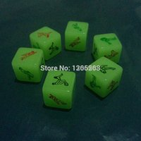 Wholesale Sex Glow Dark - Glow In The Dark Erotic Dice, Night Lights Love Dice of Sex Toys for Couples , Noctilucent Sex Dice of Adult game, Amy2_Sex