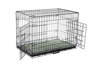 Wholesale Cage Crate - Confidence Pet Folding Dog Crate Kennels 2 Door Puppy Cage With Bed