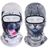 Новый 3D животных Balaclava Party Bicycle Winter Windproof Hat Сноуборд Хэллоуин Cat Dog UV Full Face Mask