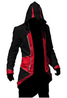 chaqueta de abrigos de credo asesino al por mayor-Assassins Creed 3 III Conner Kenway Hoodie Coat Jacket Cosplay Costume Envío gratis