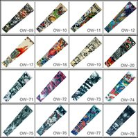 Wholesale Elbow Cuffs - Free Shipping 121 Styles Stretch Guard Elbow Extend Armband Unisex Compression Sports Tattoo Cuffs Sleeves For Softball Cycling
