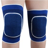 Wholesale Knee Support Pair - 1 pair New Sponge Knee Wrap Support Brace Football Basketball Athletic Sport Knee Protection Pad Elastic 2 Color For Choose FG1511