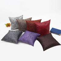 Wholesale New Sofa Leather - 2017 Fashion New Leather Pillowcases Sofa Cushion Pillow Covers Car Pillow Case Home Decor 18x18 IN (45x45 CM)