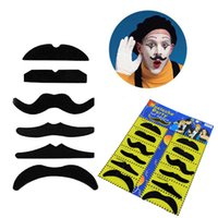 Wholesale Funny Costumes For Halloween - 12pcs set Halloween Party Costume Fake Mustache Moustache Funny Fake Beard Whisker Party Costume for Adult Kids DHL free OTH584