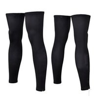 Wholesale 1 pair cycling leg sleeves M XL polyester breathable elastic long Road mtb sun care leg warmers black