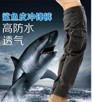 Wholesale Stop Flies - New mens lurker shark skin soft shell outdoor military tactical pants High quality waterproof breathable sports army camouflage trousers