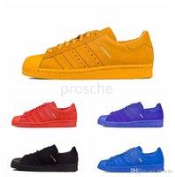 Wholesale London Series - Originals Superstar 80s City Series Running Shoes For Paris London New York Tokyo Shanghai 80s Black Blue Red Sport Sneakers Size Eur 36-44
