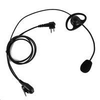 ingrosso cuffie ptt walkie talkie-Auricolare tattico 102D 2 pin Cuffie con pulsante PTT per Walkie Talkie GP88 GP88S HYT TC-500 TC-600 radio bidirezionale