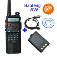 Wholesale Walkie Talkies Programming Cable - Baofeng 8W walkie talkie UV-8HX,Brother baofeng uv-5re plus+extra Baofeng Pofung 1800 battery+programming cable