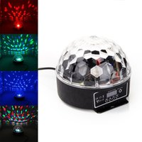Gros-Moving LED Crystal Projector Head Laser Sound Control Lumière RVB numérique Magic Ball DMX étape de LED Effet lumineux Disco Party Accueil