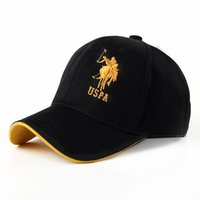 Wholesale Usps Blue - Wholesale-2015 Hot Brand Men's Women's equestrian Summer usp polo Sport Hat Outdoor travel sun hat Casual Denim Baseball Cap Free