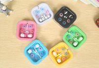 Wholesale Hot Candy Mp3 - HOT Fashion Ear Buds In-ear Earphone Headphone MP3 MP4 FM Phone Gift Earphone Candy Color Small Earphones