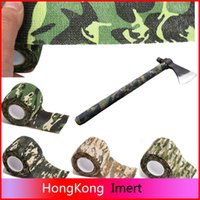 Wholesale Hunting Tape - 5cmx4.5m Army Camo Outdoor Hunting Shooting Tool Camouflage Stealth Tape Waterproof Wrap Durable Cloth Tape Wholesale a2