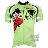 Wholesale 520 Dragon Ball Green Men s Short Sleeve Cycling Jersey Quick Dry Plus Size maillot quality ciclo jersey Geniune Paladin
