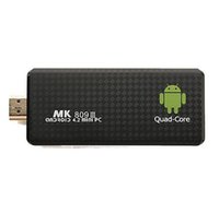 Wholesale Rk3188 Quad Core - MK809 III Quad Core RK3188 Google Android 4.4.2 Smart TV Stick 2GB RAM 8GB ROM Bluetooth WIFI HD Mk809III Mini PC Dongle