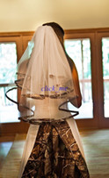 düğün kamışı toptan satış-2015 Camo Düğün Aksesuarları Tül Katmanlı Düğün Gelin Peçe Boru Ücretsiz Kargo Şapkalar