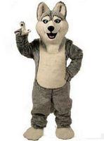 xxl robes de chien achat en gros de-2018 Hot vente Husky Dog Mascot Costume Adulte Personnage De Bande Dessinée Mascota Costume Costume Mascotte Costume De Fête De Carnaval