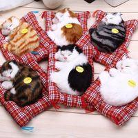 Wholesale Simulation Dog Plush - Lovely Simulation Animal Doll Plush Sleeping Cats Toy with Sound Kids Toy Birthday Gift Doll Decorations stuffed toys