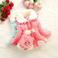 Wholesale Fleece Christmas Jacket - Kids Girls faux fox fur coat with small bag fleece thick warm Christmas jacket children's baby Winter outerwear coats jackets