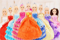 Wholesale Wholesale Evening Dress China - Mixed batch, mixed color, 30cm high wedding dress Barbie evening dress Barbie Christmas gift for little princess Christmas present