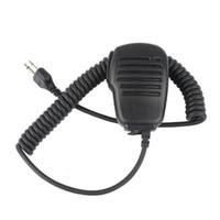Wholesale icom handhelds - 2 Pin Handheld Shoulder Speaker Mic for ICOM RADIOS IC-F3 F4 F10 F11 F21 IC-W32A IC-T7H T2H SP100 120 SL25 55 J0318A Alishow