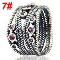 anéis vintage pandora venda por atacado-Apto para pandora jóias anel de prata Do Vintage Authentic 925 sterling silver rings luxo cubic zirconia DIY mulheres jóias em estoque atacado
