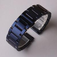 Wholesale Metal Gear Watch - New 2017 arrival 20mm 22mm watchband strap bracelet dark blue matte stainless steel metal watch band belt for gear s2 s3 s4 men women hours