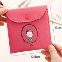 Wholesale Napkin Polyester - Drop Shipping 4 Colors Mp3 Phone Sanitary Napkin Women Cute Cosmetic Storage Organizer Bag In Bag Girl Women