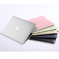 Wholesale Women Leather Laptop Case - 2015 Laptop Bags Cases for Macbook 12 inch Air 11 IPAD No-zipper Closed Women Men's Bag Anti-dust PU Leather Sleeve Cover Tablet Shell